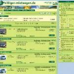 Neue Buchungsmaschine von billiger-mietwagen.de