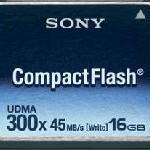 Neue 300x CompactFlash Speicherkarte von Sony mit 16 Gigabyte Kapazität