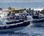 Internationale Rally auf dem Wasser und an Land