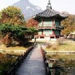 Herbststimmung in den königlichen Palästen von Seoul