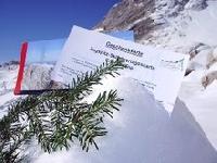 Die Zugspitze unterm Weihnachtsbaum
