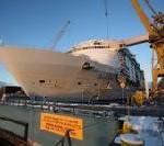 Oasis of the Seas wird erstmals zu Wasser gelassen