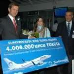 SunExpress: Viermillionster Fluggast