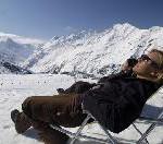 Skifahren Richtung Sommer