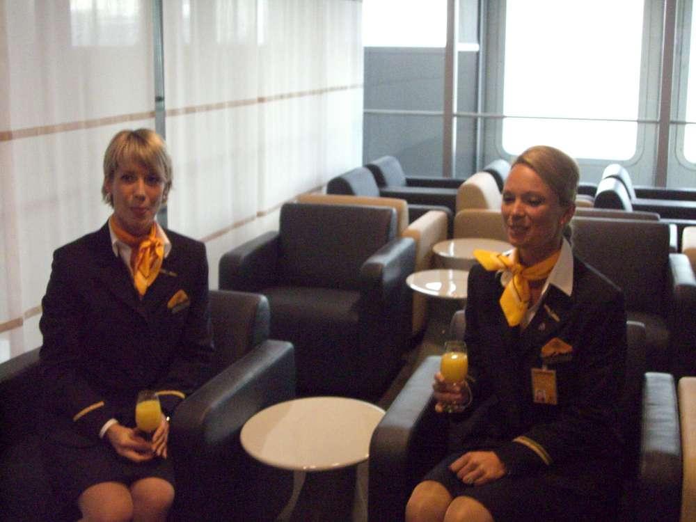 Größte Lufthansa Lounge am Flughafen Frankfurt