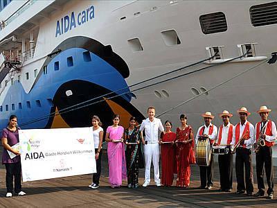 Indien begrüßt AIDAcara