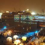100.000 Zuschauer begleiten AIDAblu auf dem Weg zum Meer