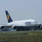 Airbus A380 für einen Tag zu Gast am Münchner Flughafen: