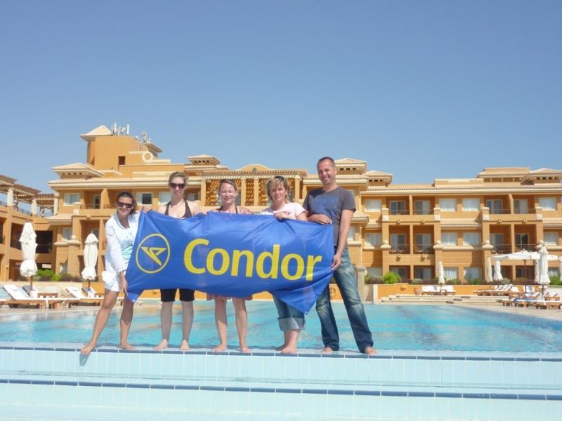 Veranstalter besuchen mit Condor das La Résidence des Cascades in Soma Bay