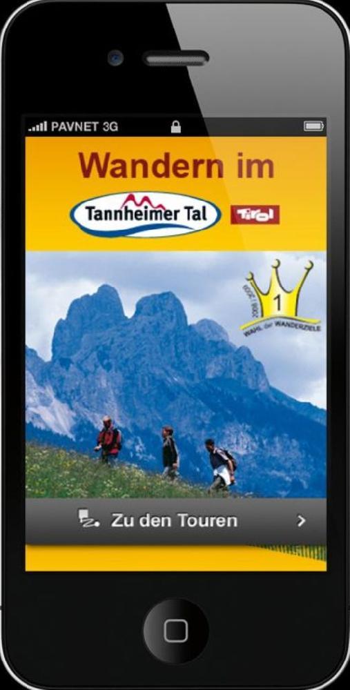 iPhone-Applikation für Wandern im Tannheimer Tal