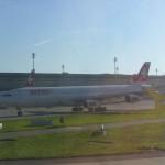 """Swiss Airbus A340 auf den Namen """"Stans"""" getauft"""