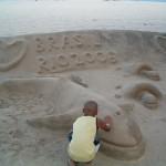 Niederlande: Vergängliche Kunstwerke am Strand