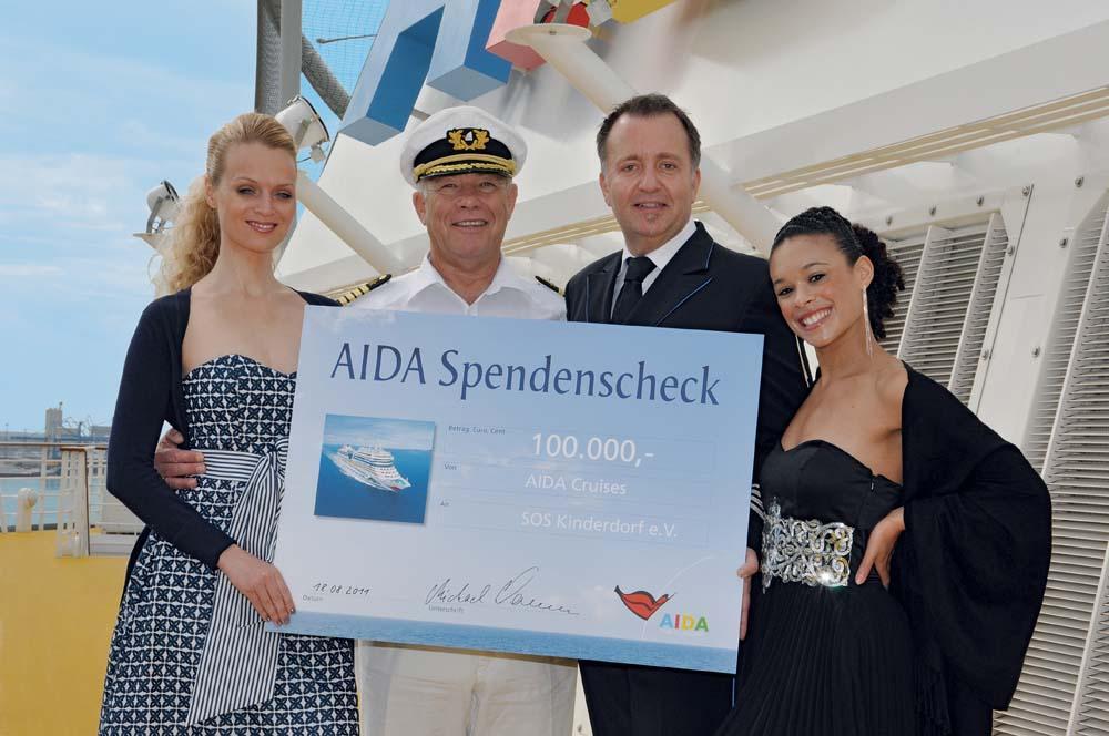 AIDA unterstützt Kinderhilfe in Ostafrika – Gäste und Kreuzfahrtreederei spenden 100.000 Euro