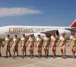 Emirates A380 landet zum Flughafengeburtstag in Hamburg – Informationsstand für angehende Flugbegleiter