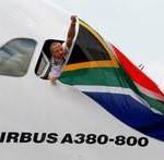 Erste Emirates A380 Landung in Johannesburg
