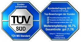 TÜV geprüft: 95 Prozent der Kunden empfehlen L