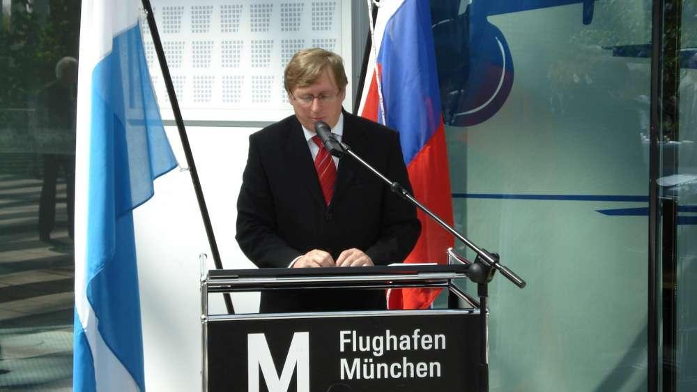 Feierliche Grundsteinlegung für den Satelliten des Terminal 2 am Münchner Flughafen