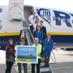 Ryanair feiert Meilenstein am Airport Lübeck