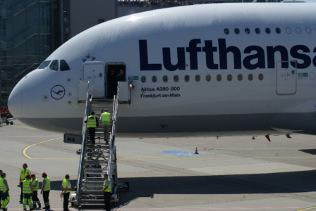 Airbus A 380 Trainingsflüge über Deutschland, Zwischenlandung in Düsseldorf am 3. Juni 2010