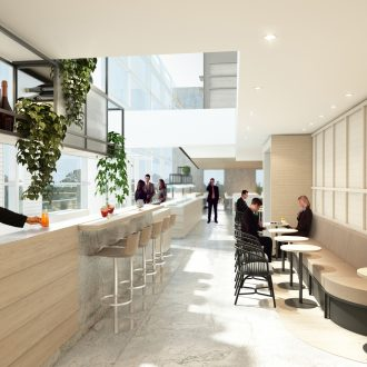 Qantas begins developement on the new Brisbane International Lounge experience