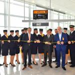 Lufthansa startet am Flughafen München zum ersten Linienflug mit neuem Airbus A350