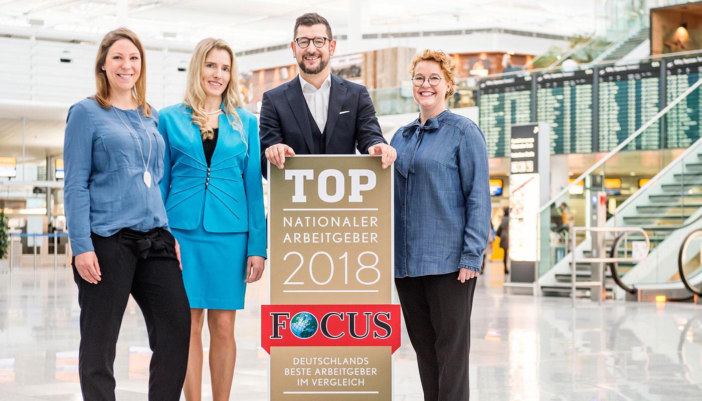 """Münchner Flughafen landet erstmals in den """"Top Ten"""" der deutschen Arbeitgeber"""
