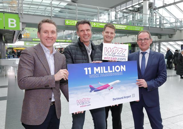 Wizz Air zählt elf Millionen Passagiere in Dortmund