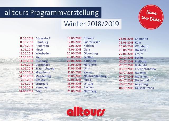 Reisebüro-Expis: Vorbereitung für die nächste Saison – Alltours stellt Winterprogramm 2018/19 vor