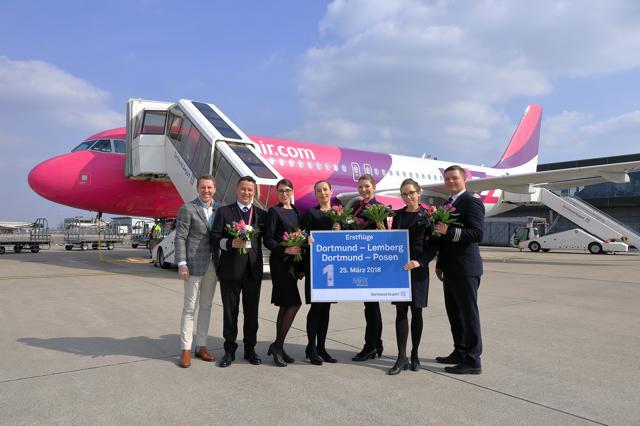 Erstflüge nach Lemberg und Posen:Wizz Air erweitert sein Angebot am Dortmund Airport