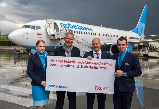 Neue Airline in Berlin-Tegel: Pobeda fliegt nach Moskau