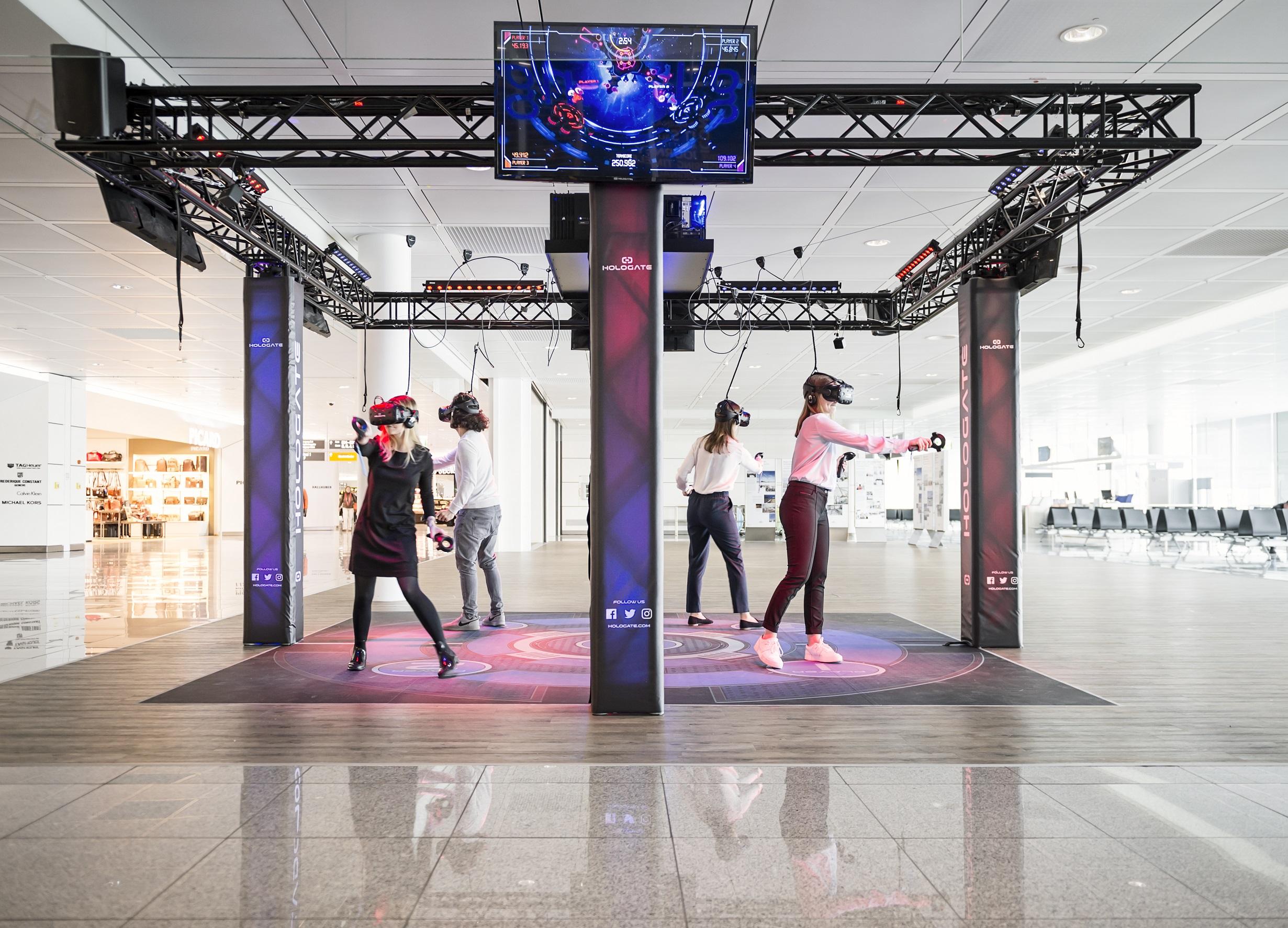 Satellitengebäude des Münchner Flughafens als Startplatz in die virtuelle Realität
