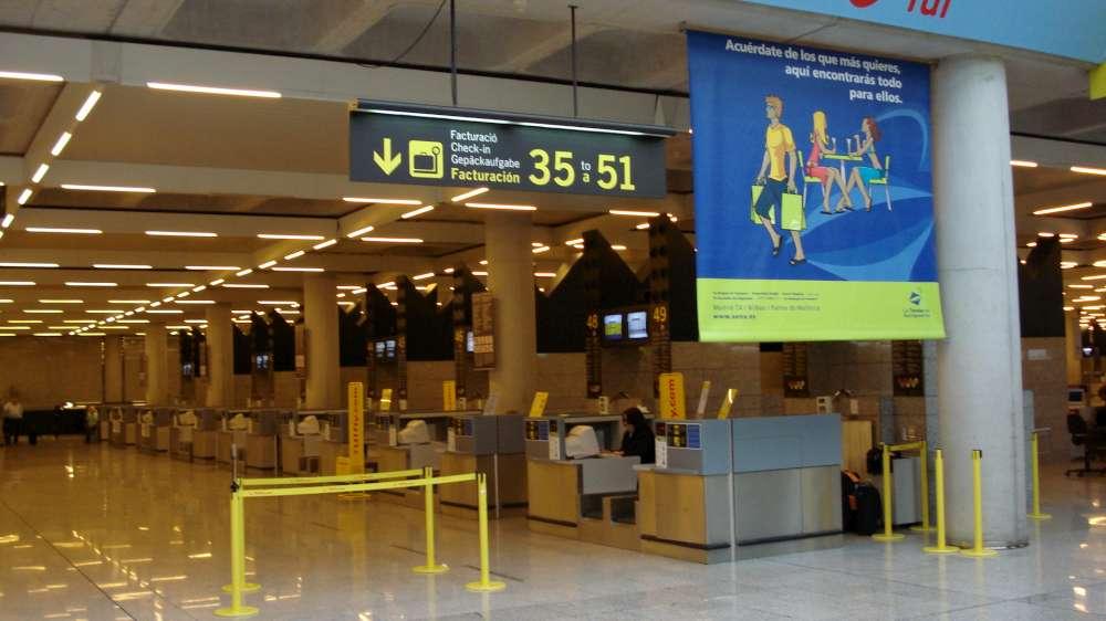 Rückflug: Abreise aus Palma – Flughafen – Abflugtafeln (hier online)