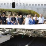 """Fast vergessen: Reste der Boeing 737 """"Landshut"""" nach Deutschland gebracht."""